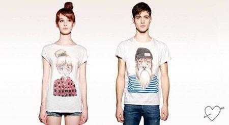 Camisetas Just Love de Pull & Bear para ir a juego con tu chica
