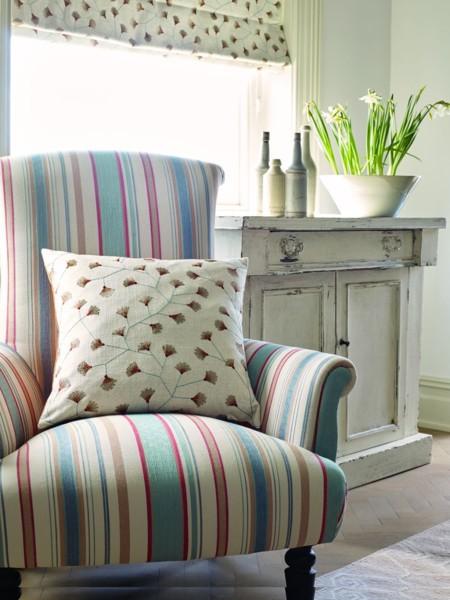 Maida Dobby Stripe Fb Chair Focus