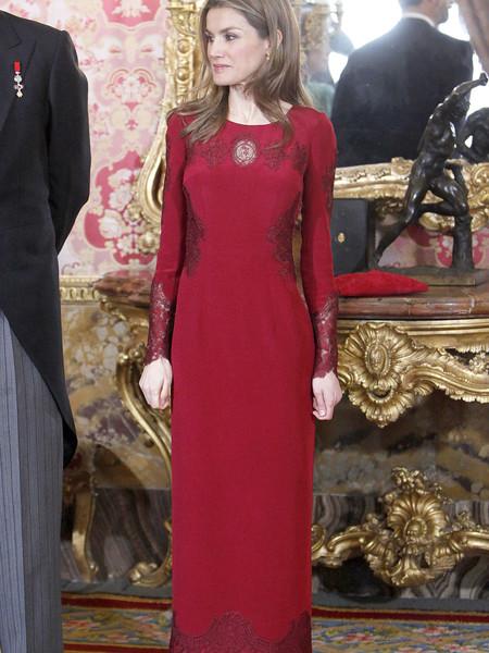 Reina Letizia Recepcion Cuerpo Diplomatico 2017 Felipe Varela 4