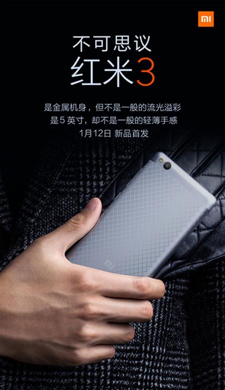 Anuncio del Xiaomi Redmi 3