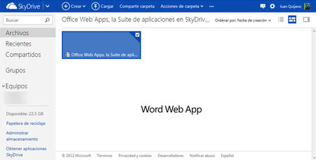 Office Web Apps, la Suite en SkyDrive: editando con Word