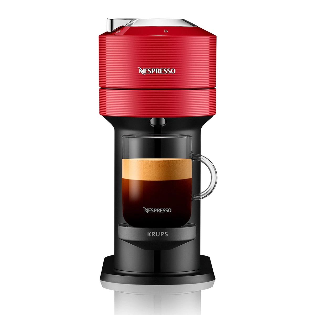 Cafetera de cápsulas Krups Vertuo Next para cápsulas Nespresso con Centrifusion Rojo
