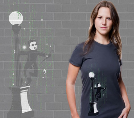 Camiseta 'Cantando bajo Matrix' de Pampling