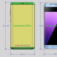 Estas serían las dimensiones de los Galaxy S8: 5,7 y 6,3 pulgadas sin marcos laterales