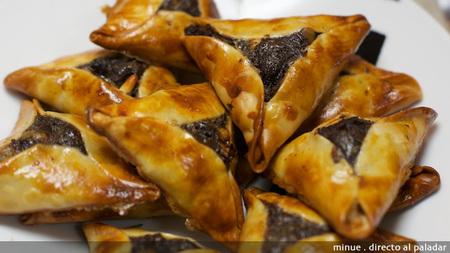 Empanadillas de morcilla y manzana - presentación