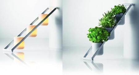 Herb Ladder, modernos y luminosos maceteros