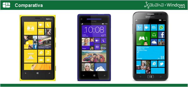 Comparativa Nokia Lumia 920 vs HTC 8X vs Samsung ATIV S