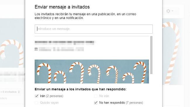 Ahora se pueden enviar mensajes a los invitados de los eventos de Google+