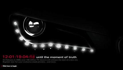 El Audi R8 cabrio asoma el ojo antes de la Super Bowl