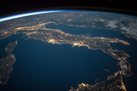 Luces desde la ISS