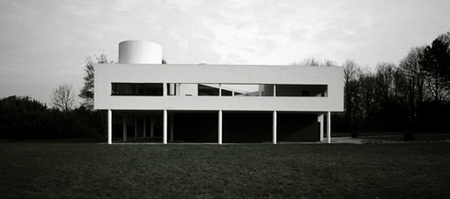 villa Savoye - vista fachada posterior