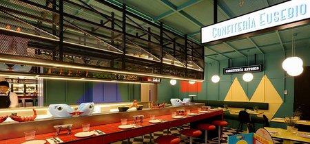Las chicas, los chicos y los maniquís. Un divertido restaurante en los bajos del Axel Madrid