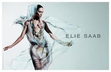 Elie Saab Primavera-Verano 2011 con Erin Wasson