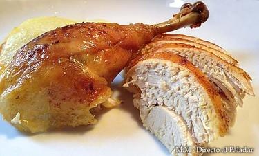 Pollo en bolsa a las cuatro horas. Receta