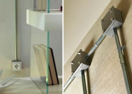 Instalaci n el ctrica a la vista de estilo industrial de fontini - Tuberia para instalacion electrica ...