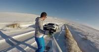 La nueva moda es el snowboard enganchado a tu Lamborghini Huracán
