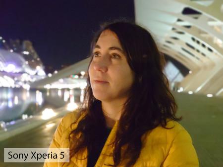Sony Xperia 5 Retrato Noche