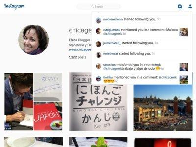 Ahora puedes ver tus notificaciones de Instagram también en la web