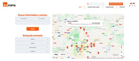 Imjoying Buscador De Ocio En Espana Interfaz Mapa