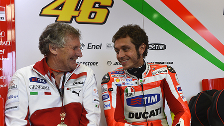 Jeremy Burguess y Valentino Rossi