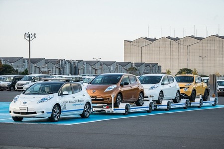 Nissan LEAF se estrena como vehículo de remolque autónomo en Japón