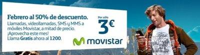 Llamadas y mensajes a mitad de precio con Movistar en Febrero