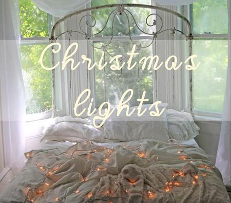 7 ideas para decorar tu dormitorio con luces de navidad for Adornos de navidad para dormitorios