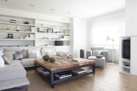 Color blanco y madera natural, buscando el equilibrio de colores y formas