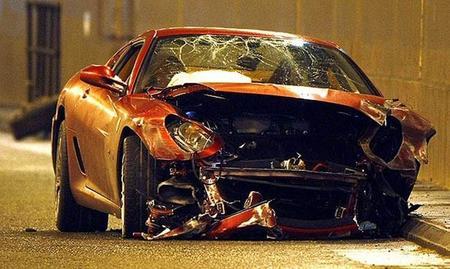 Accidente Ferrari 599 GTB Cristiano Ronaldo