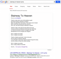 ¿Quieres saber la letra de una canción? Google ahora ya la conoce