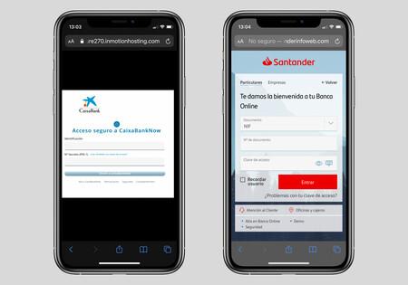 """""""Su cuenta ha sido bloqueada temporalmente"""": así son las nuevas estafas SMS phishing que se hacen pasar por Santander y Caixabank"""