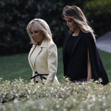 Melania Trump y Brigitte Macron, juntas pero no revueltas (y con estilos muy distintos)