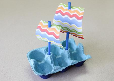 Manualidades Faciles Bonitas Playa Mar Barco Carton