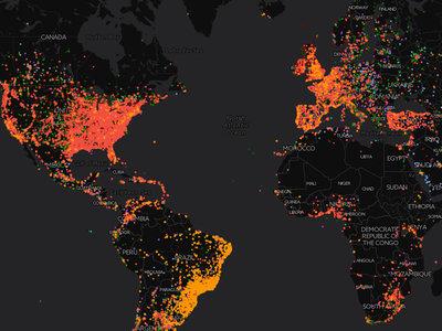 Este mapa interactivo muestra cuáles son las canciones más reproducidas en cada país