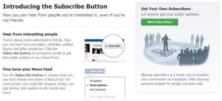 """Facebook cambia """"suscribirse"""" por """"seguir"""" en los botones de las páginas"""