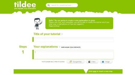 Tildee: crea tutoriales sencillos online sin necesidad de registro