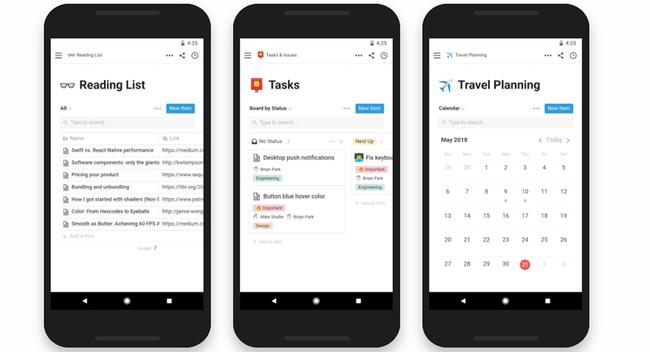 Probamos Notion para Android, una app de trabajo dispuesta a poner las cosas difíciles a Evernote y Trello