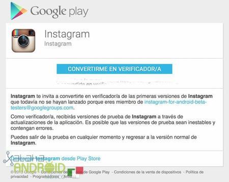Instagram lanza programa de beta testers en Google Play