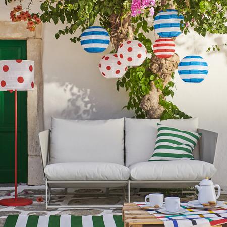Sofa Terraza Balcon Lamparas Ikea
