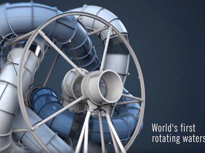 El primer tobogán acuático giratorio en la historia es una verdadera máquina de tortura disfrazada de atracción