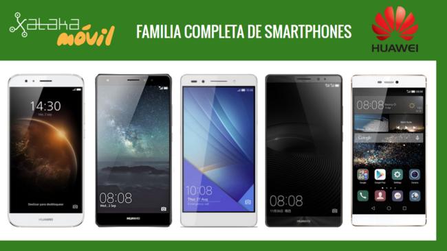 Familia Completa Smartphones Huawei