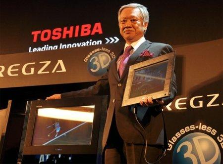"""Toshiba quiere golpear primero con sus televisores 3D """"libres de gafas"""""""
