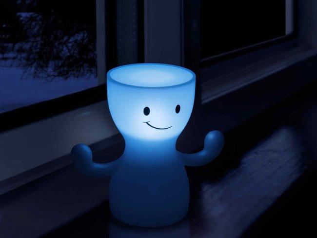 Glo boy bonita l mpara de noche para la habitaci n infantil - Lampara de noche para bebes ...