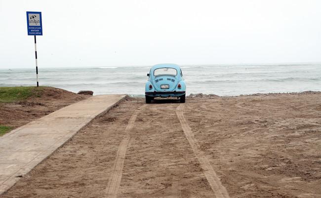 Aparcar en la playa