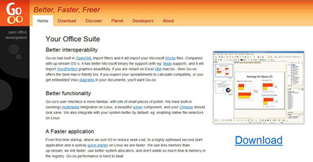 Go-OO: OpenOffice.org reforzado