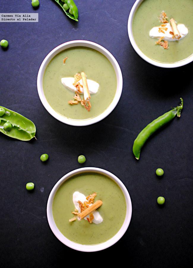 Sopa fría de Guisantes