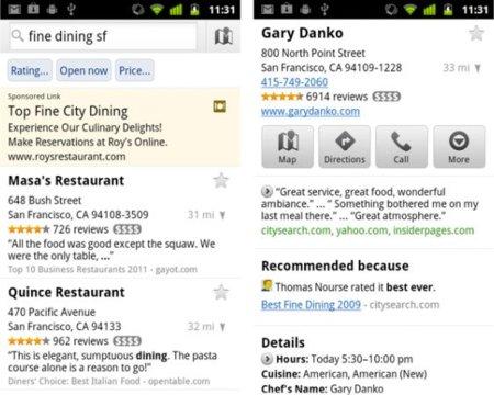 Google Maps se actualiza a la versión 5.6.0 para recomendarnos los mejores restaurantes