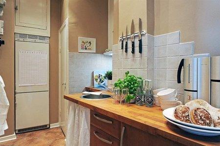Cocina de un apartamento de 38 metros cuadrados