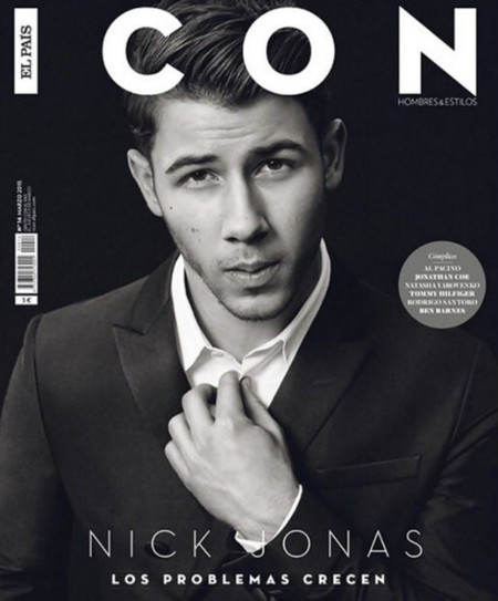 Nick Jonas March 2015 Icon Magazine Cover