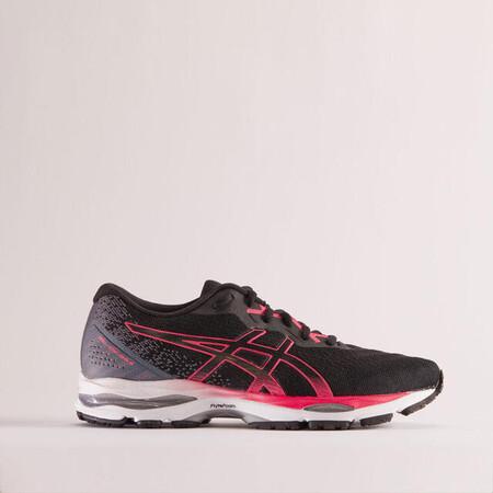 Asics Gel Ziruss 4 Mujer Negro Rosa Zapatillas Running